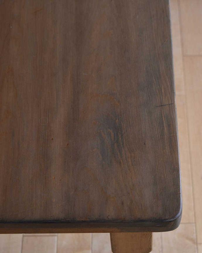 k-1831-f  アンティークリフェクトリーテーブルの天板ズーム