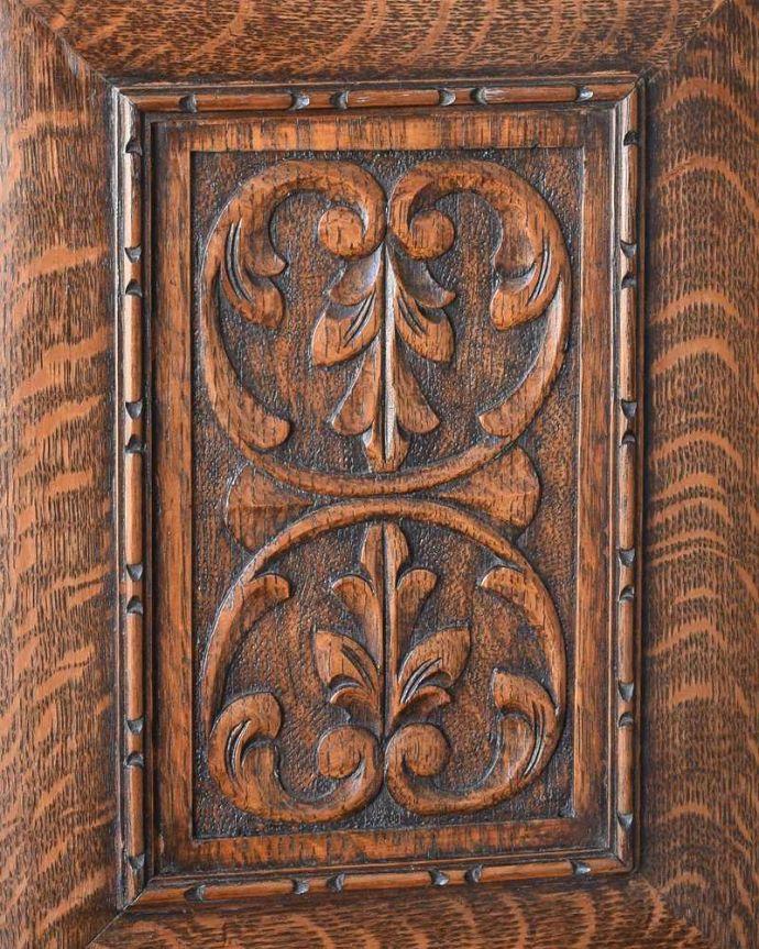 k-1848-f アンティークサイドボードの扉装飾