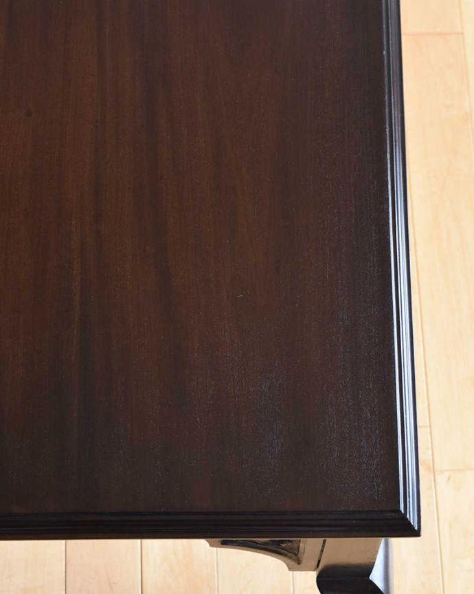 k-1849-f アンティークオケージョナルテーブルの天板ズーム