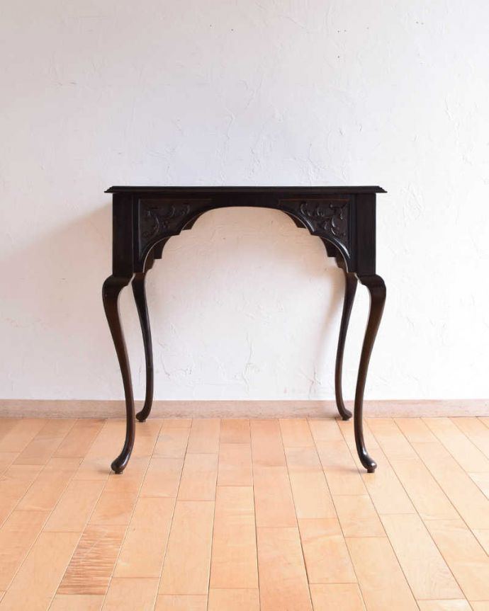k-1849-f アンティークオケージョナルテーブルの後ろ