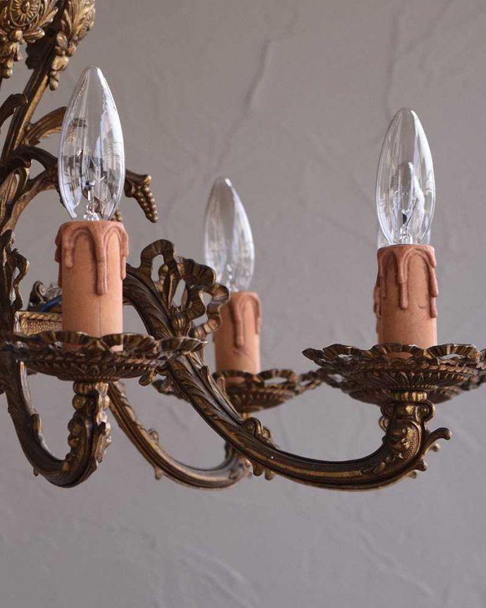 k-1865-z アンティーク シャンデリア(8灯)の装飾