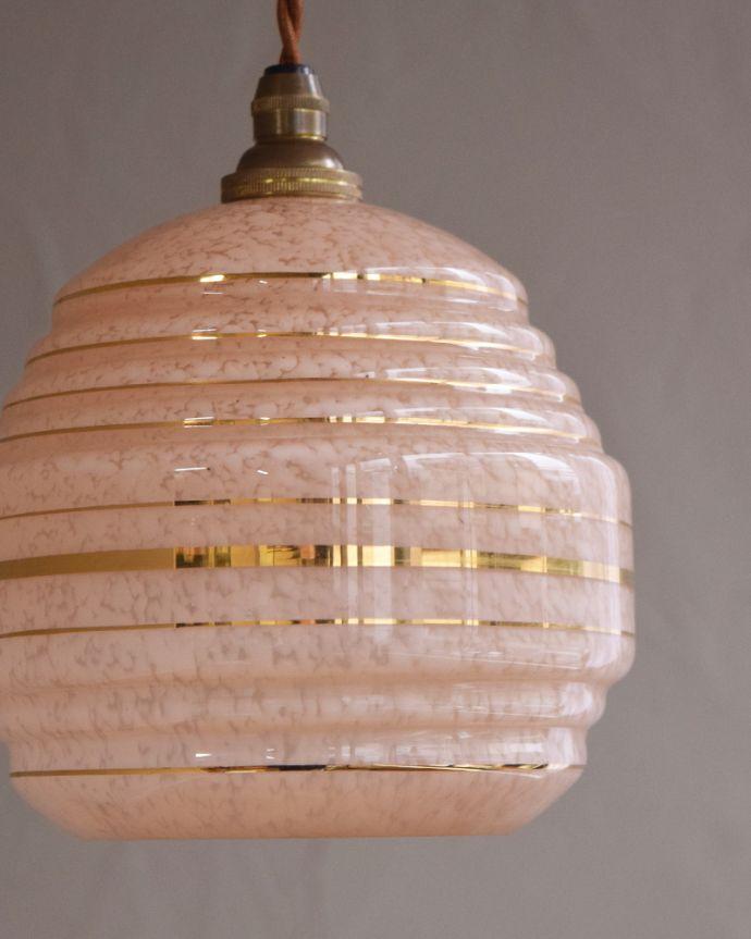 k-1879-z アンティークペンダントランプ(照明)の消灯時アップ