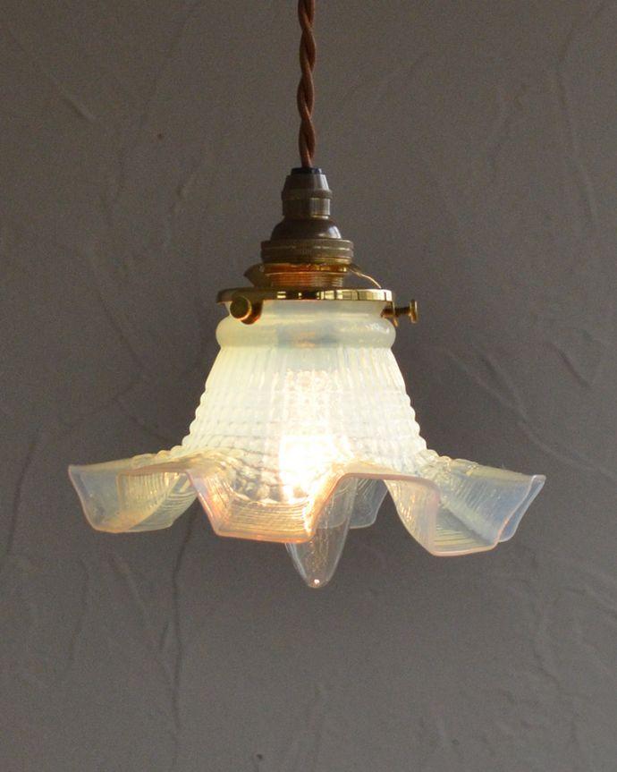 k-1884-z アンティークペンダントライトの点灯