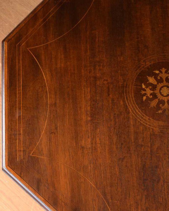 k-1892-f アンティークオケージョナルテーブルの天板ズーム