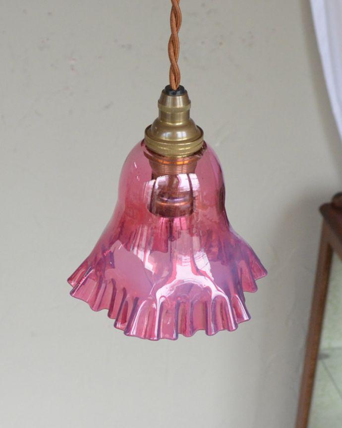 k-1896-z アンティークペンダントランプ(照明)の上から消灯