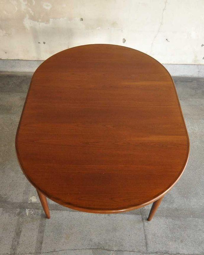 k-1904-f ビンテージダイニングテーブルの天板(閉じた状態)