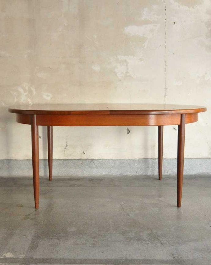 k-1904-f ビンテージダイニングテーブルの横(閉じた状態)