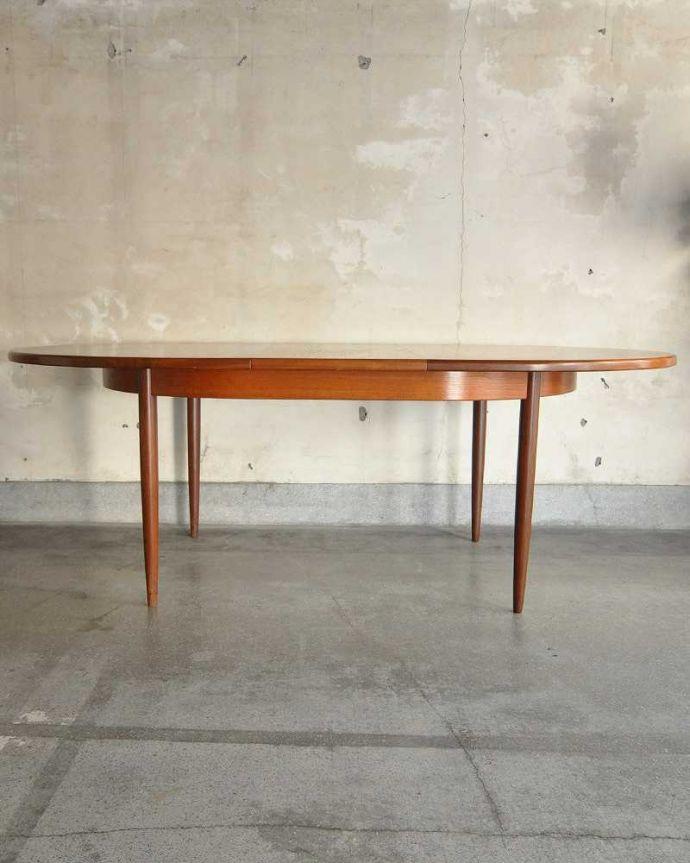 k-1904-f ビンテージダイニングテーブルの横(開いた状態)