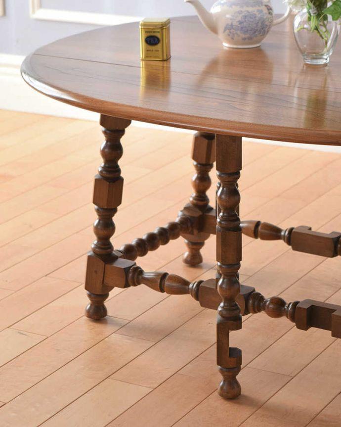 k-1908-f アンティークゲートレッグテーブルのズーム