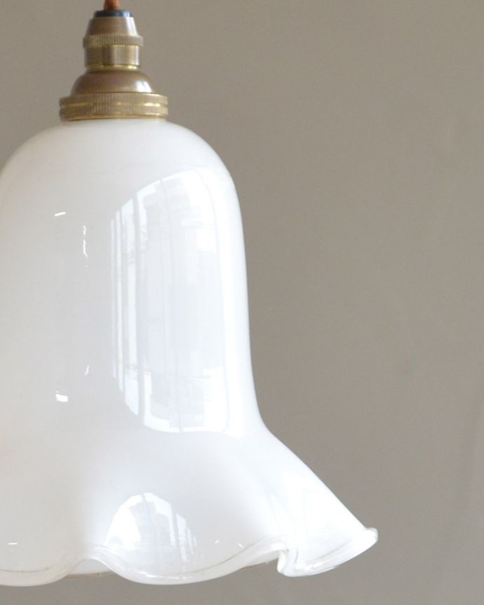 k-2030-z アンティークガラスシェードのアップ消灯時