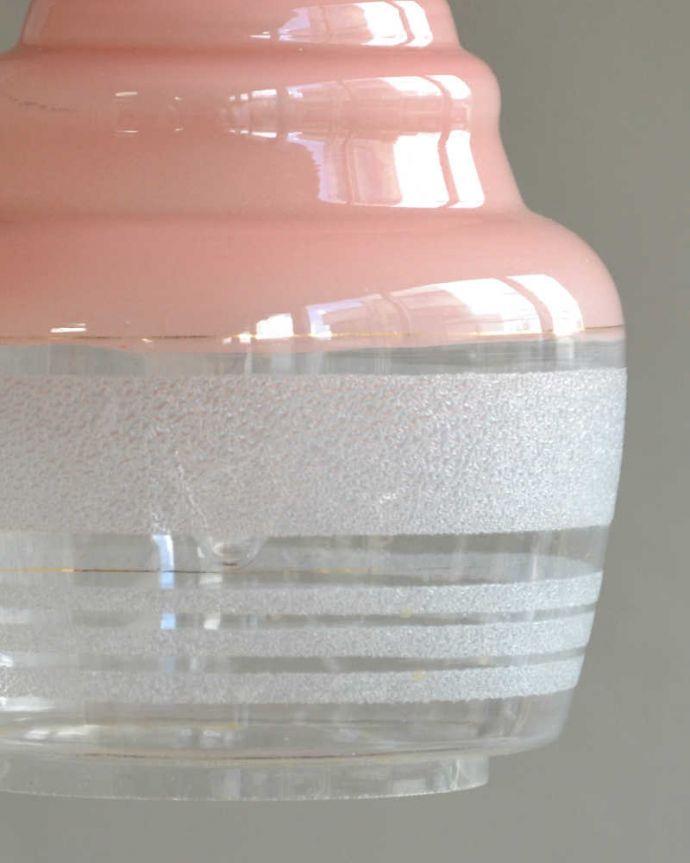 k-2066-z アンティークガラスシェードのアップ消灯時
