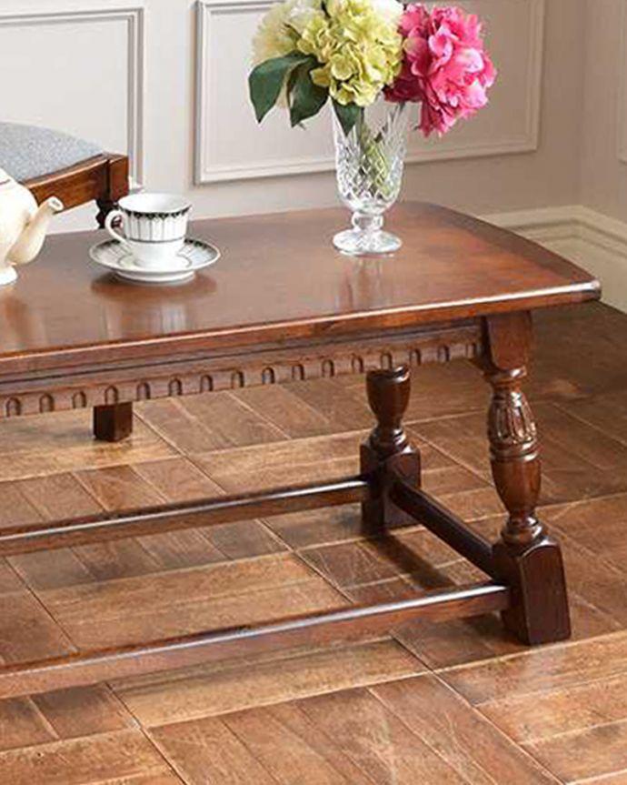 k-2112-f 英国アンティークコーヒーテーブルのズーム