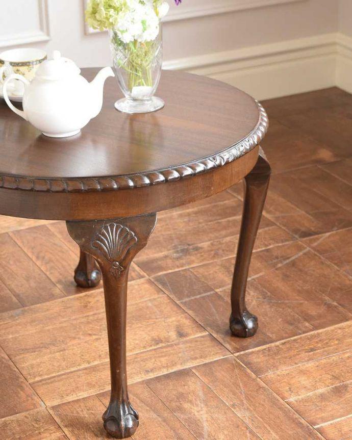 k-2116-f 英国アンティークコーヒーテーブルのズーム