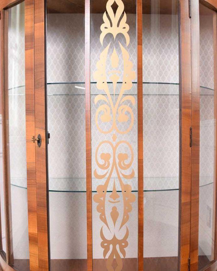 k-2141-f アンティークガラスキャビネットの装飾