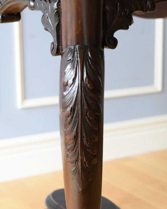 k-2190-f  アンティークオケージョナルテーブルの装飾1