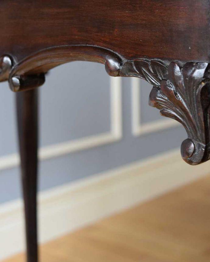 k-2190-f アンティークオケージョナルテーブルの装飾2