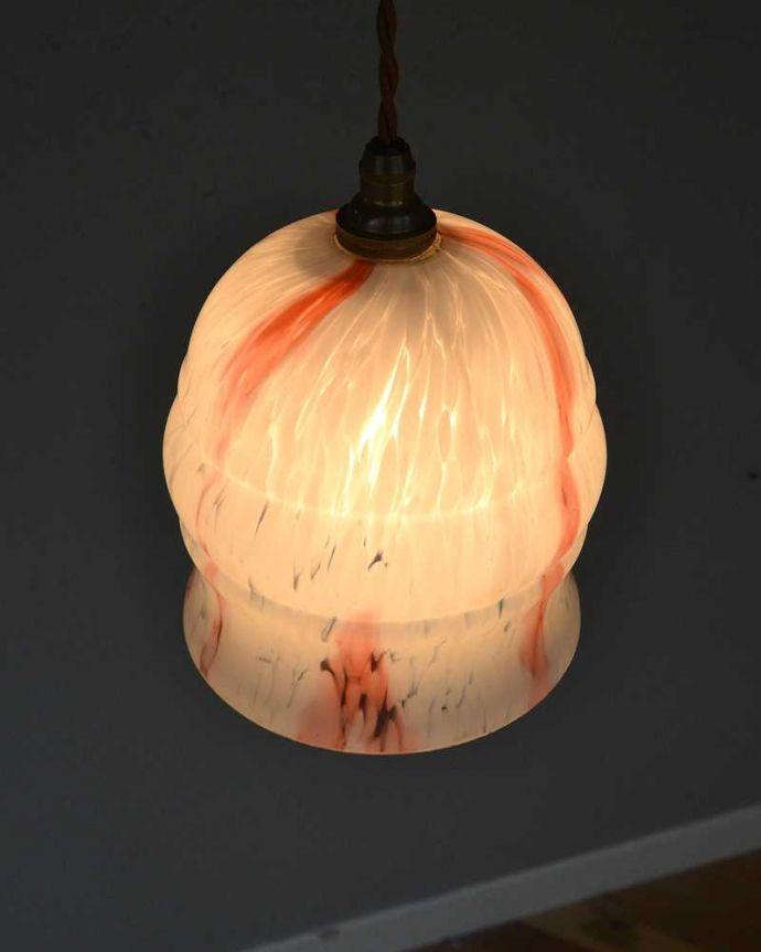 ペンダントライト 照明・ライティング キャンディのようなマーブル、アンティークシェードペンダントライト(コード・シャンデリア電球・ギャラリーなし)。。(k-2202-z)