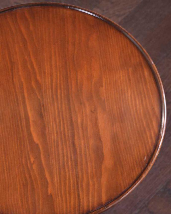 k-2293-f アンティークワインテーブルの天板ズーム
