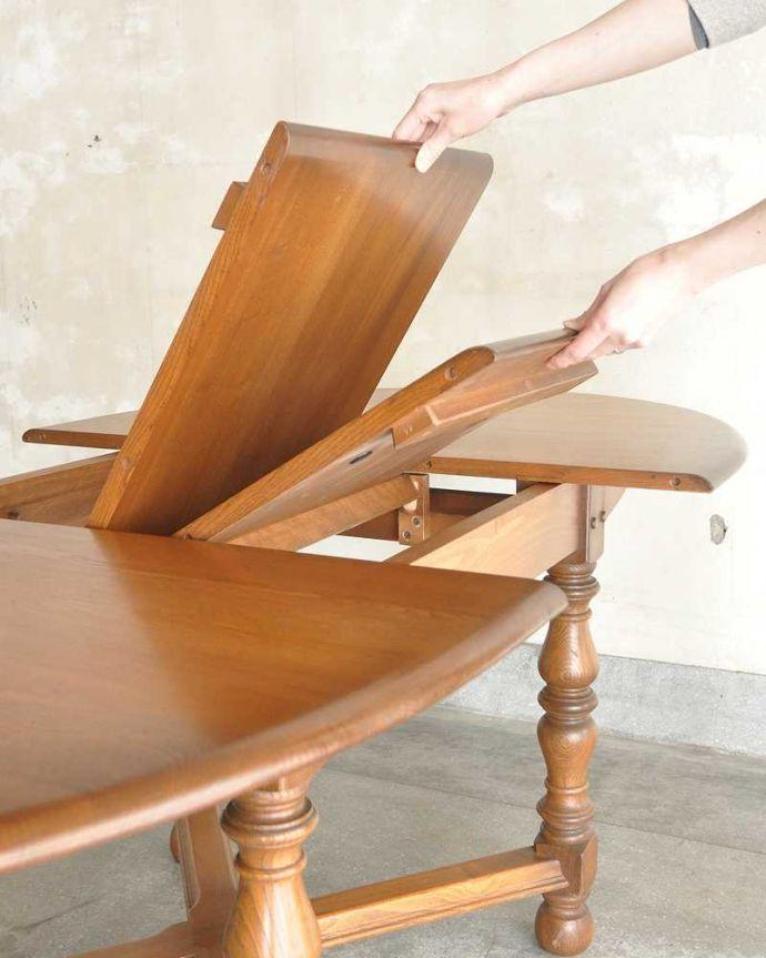 k-2331-f アンティークダイニングテーブルの組み立て