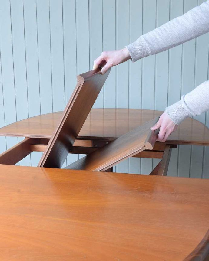 k-2359-f アンティークテーブルの伸縮方法