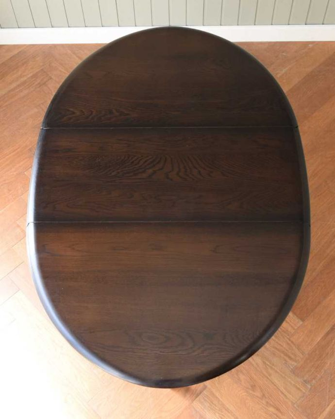 k-2366-f  アンティークゲートレッグテーブルの天板(開いた状態)
