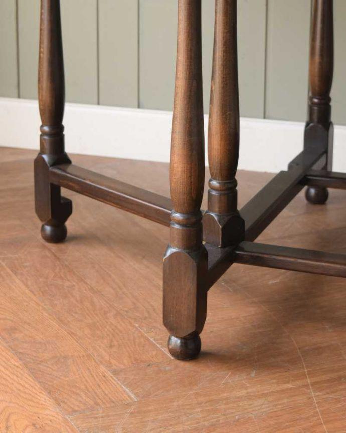k-2366-f アンティークゲートレッグテーブルの脚(普通の脚)