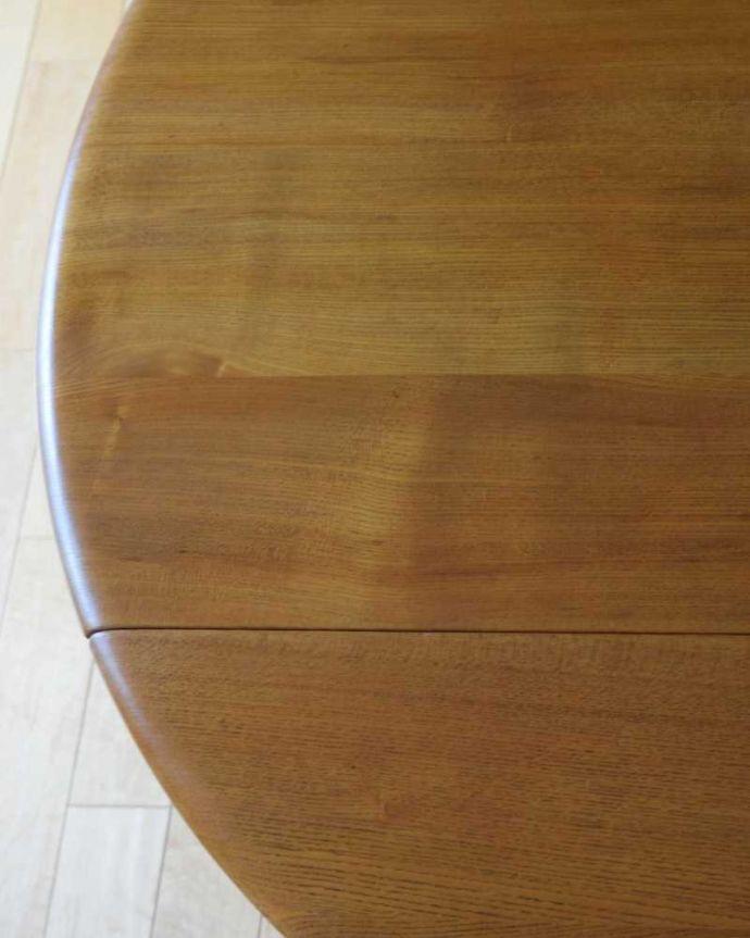 k-2550-f  アンティークダイニングテーブルの天板ズーム