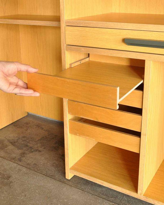 アンティークのキャビネット アンティーク家具 ホームオフィス社のデスクキャビネット、多機能なイギリスのヴィンテージ家具。スライド棚も付いていますレール付きのスライド棚。(k-2583-f)