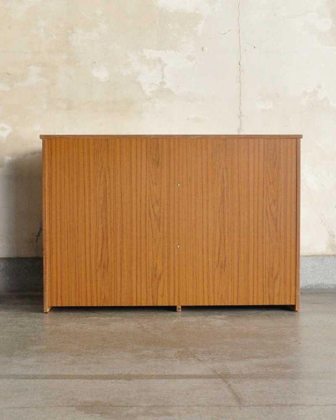 アンティークのキャビネット アンティーク家具 ホームオフィス社のデスクキャビネット、多機能なイギリスのヴィンテージ家具。後ろ姿もキレイなんです。(k-2583-f)