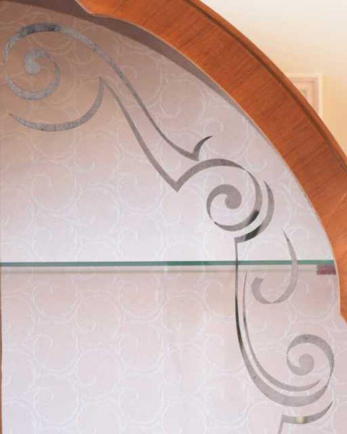 k-2591-f アンティークガラスキャビネットの扉装飾