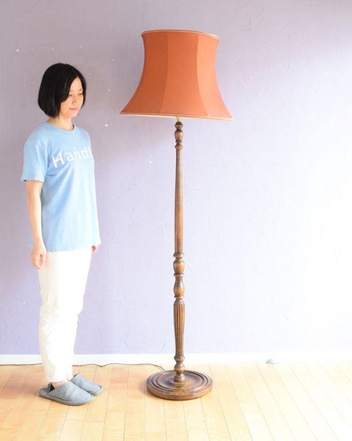 アンティークの照明、フロアランプ