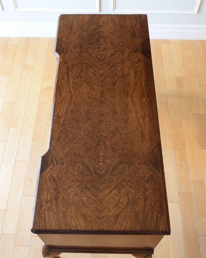 アンティークのデスク・書斎机 アンティーク家具 アンティーク ライティングデスク 天板もピカピカにお直ししました。(k-2840-f)