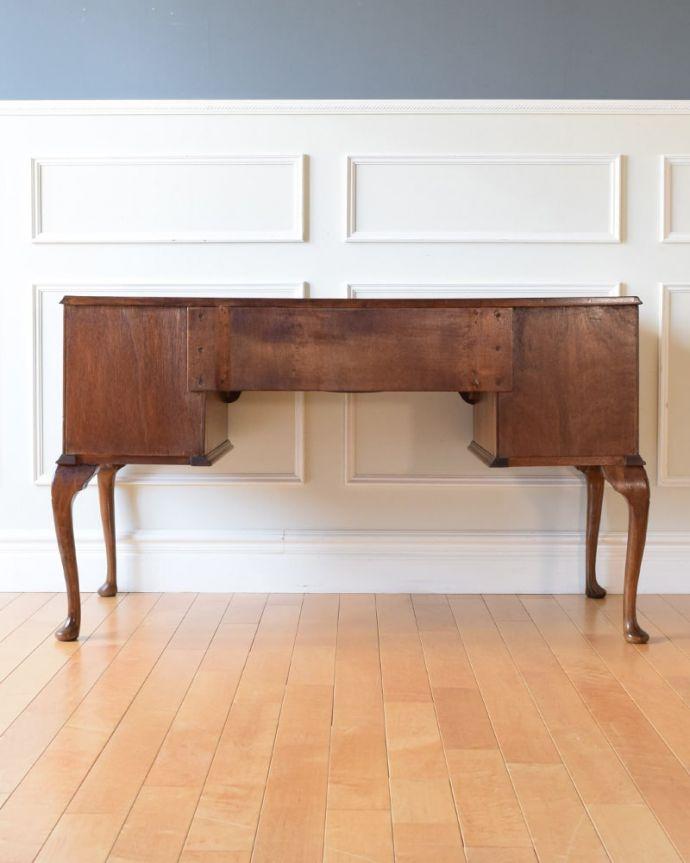 アンティークのデスク・書斎机 アンティーク家具 アンティーク ライティングデスク 後ろ姿もキレイなんです。(k-2840-f)