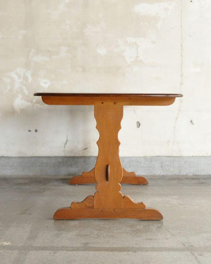 アーコールの家具 アンティーク家具 アーコール社のヴィンテージ家具、お洒落なダイニングテーブル。クルッと回転。(k-2853-f)