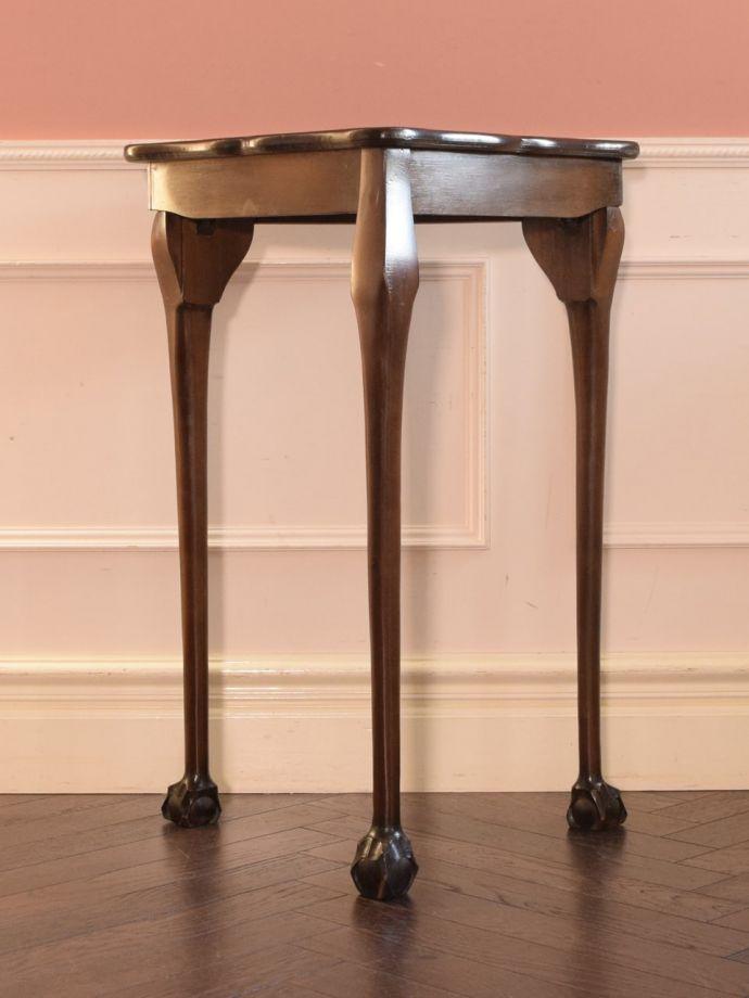 アンティーク家具 アンティーク コーナーテーブル 後ろ姿にも自信があります。(k-2865-f)