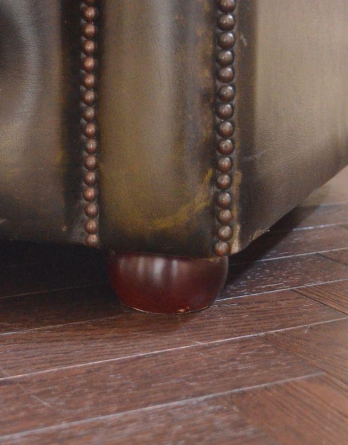 k-288-c アンティークソファの座面の脚