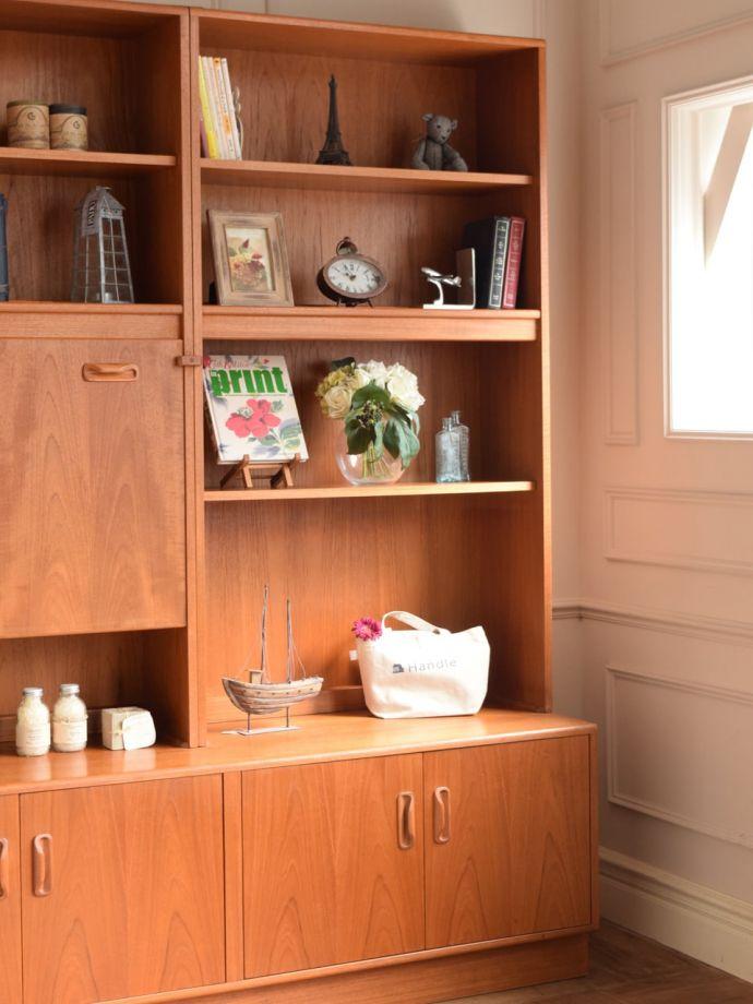 ビューロー アンティーク家具 アンティーク G-planウォールユニット  ヴィンテージ家具らしいあたたかさ。(k-2889-f)