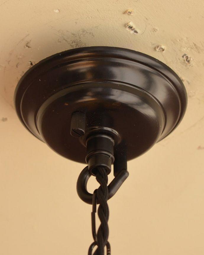 照明・ライティング アンティーク ペンダントライト カバーも付いています。(k-4186-z)