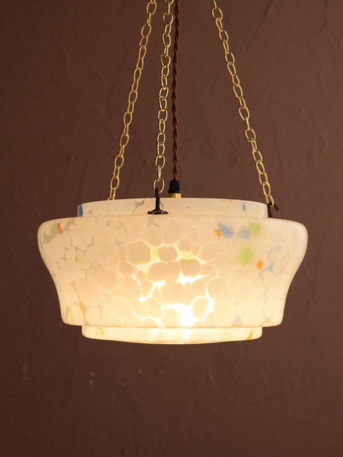 アンティークの照明、ハンギングボウル