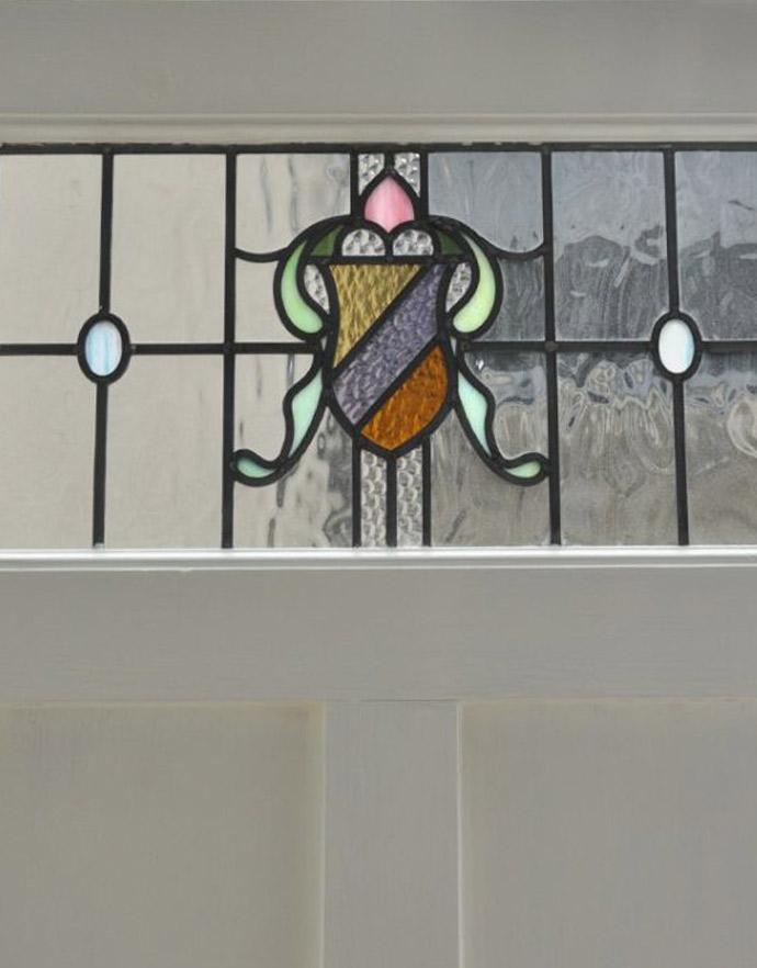 k-720-f-1 アンティークステンドグラス入りドアのステンドグラス