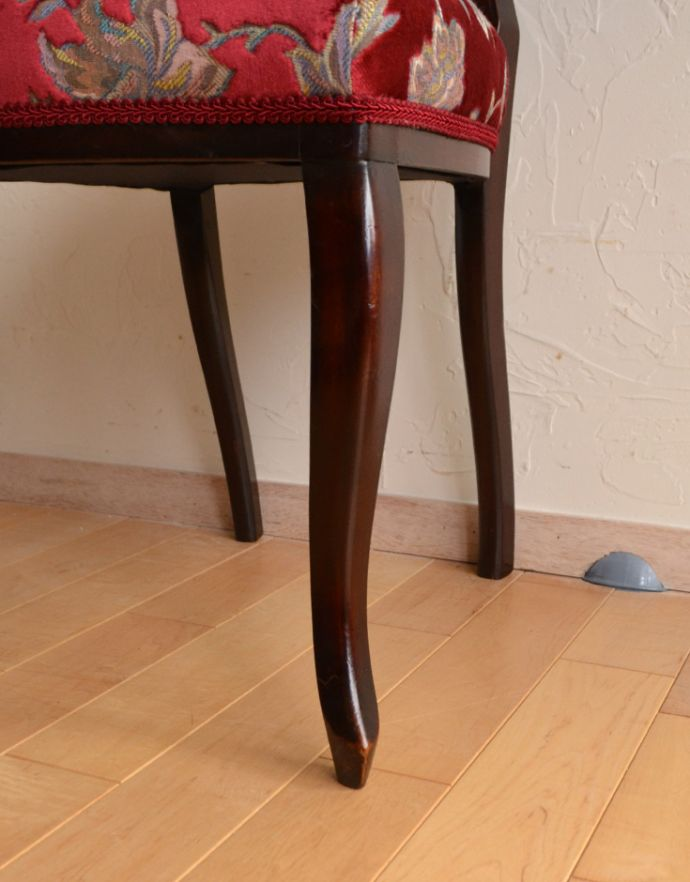 k-925-c アンティークサイドチェア(マホガニー材)の脚