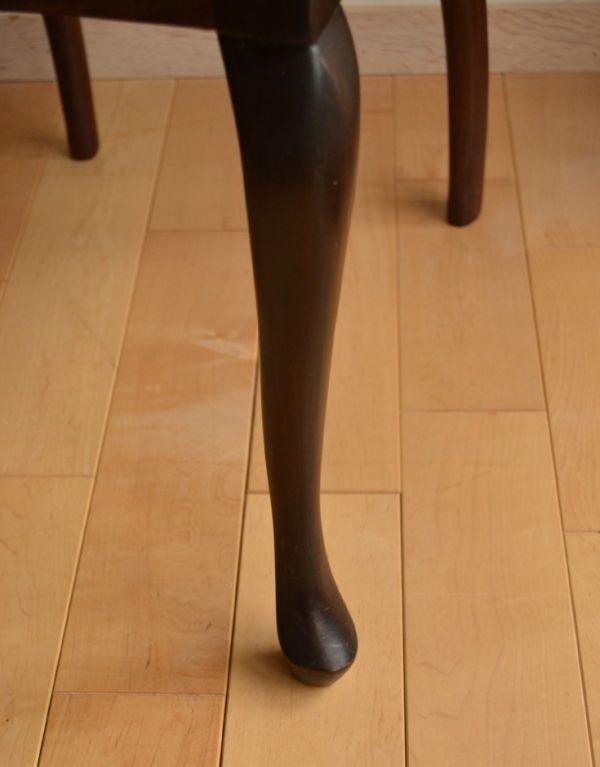 サロンチェア アンティーク チェア マホガニー材のアンティークチェア、美しい背もたれのサイドチェア。脚もこだわり抜かれたデザイン。(k-926-c)