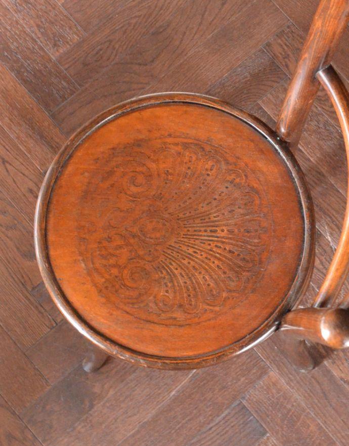 k-972-c アンティークベントウッドチェア(ツーバータイプ)の座面