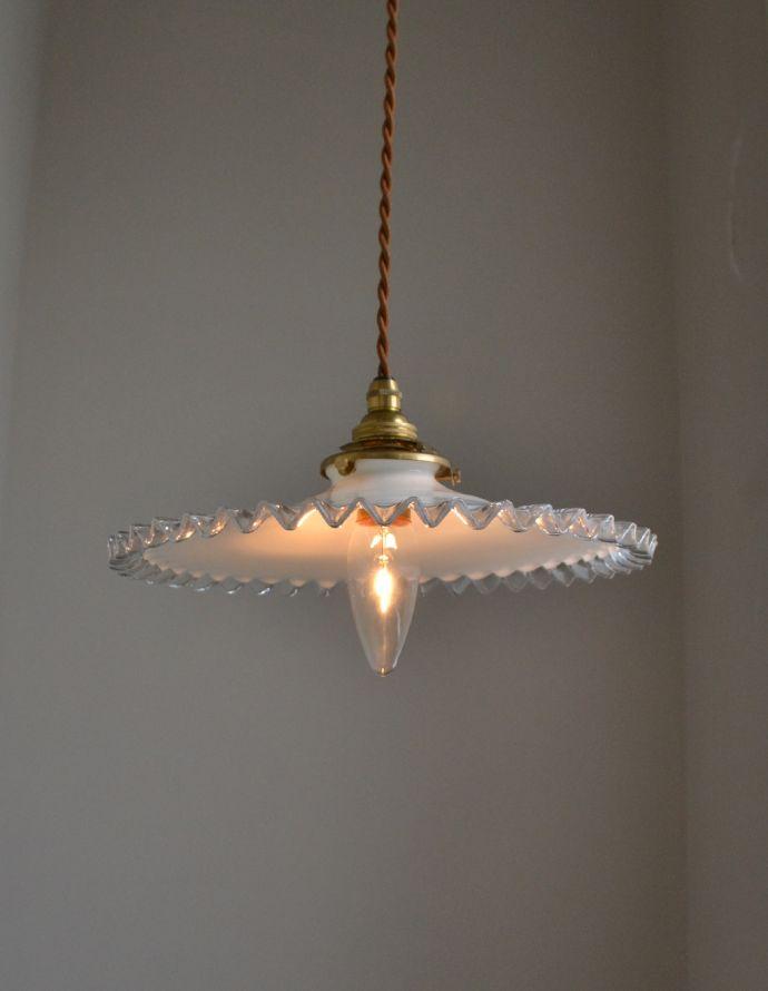 m-1461-z アンティークガラスシェードの点灯時