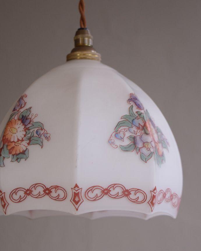 m-1788-z アンティークペンダントライト(照明)の消灯時アップ