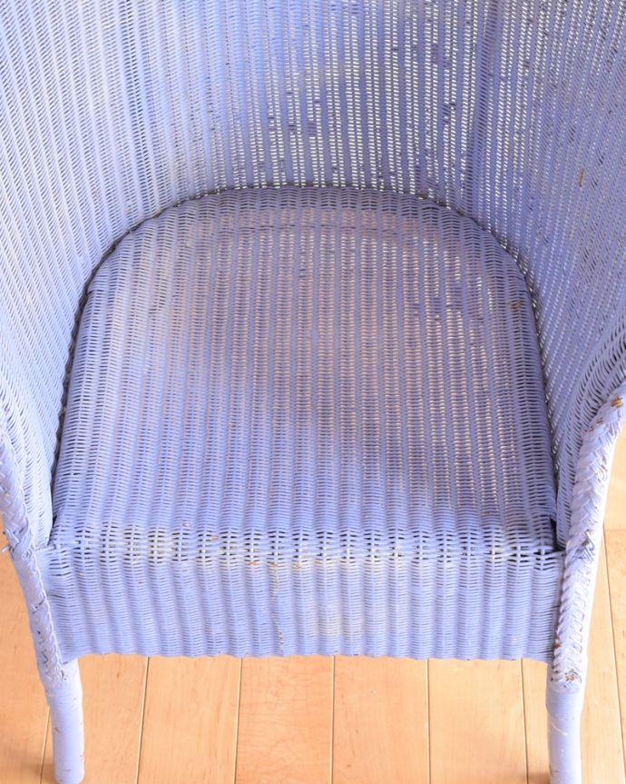 m-301-c-1 アンティークロイドルームチェア(パープル)の座面