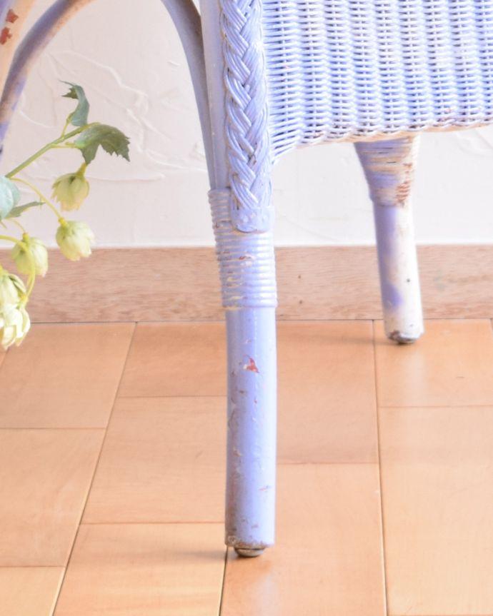 m-301-c-1 アンティークロイドルームチェア(パープル)の脚
