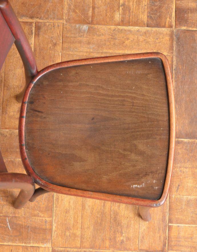 m-380-c アンティークベントウッドチェアの座面
