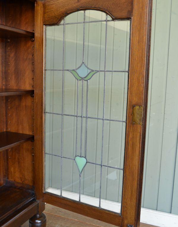 m-424-f アンティークブックケースのガラス戸