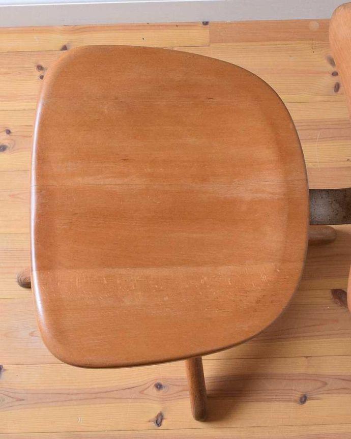 m-428-c アンティークキッチンチェアの座面